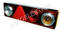 Koncové světlo levé s trojúhelníkem, LED, červená