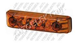 Obrysové světlo oranžové, boční pozička, 4 LED 24V