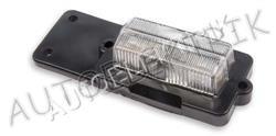 Přední pozička, obrysové světlo bílé,na žárovku sufit, 12V/24V, gumový držák