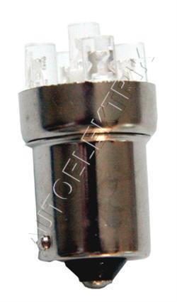 Žárovka LED, 24V/(5W), BA 15s, rudá, spotřeba 0,5W