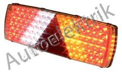 Zadní světlo, LED, na konektor 7 pól, trojúhelník, pravé