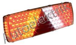 Zadní světlo, LED, na konektor 7 pól, trojúhelník, levé