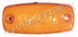 Boční pozička, obrysové světlo oranžové 3LED s těsněním, 12V/24V