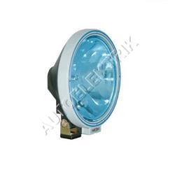 Dálkové světlo, průměr 223 mm, modré sklo s šedým rámečkem