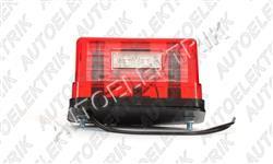 Osvětlení SPZ červené , LED 12/24V, velké