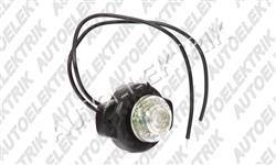 Přední pozička, obrysové světlo bílé, kulaté LED 12V/24V