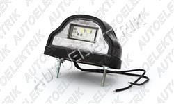 Osvětlení SPZ černé, LED 12/24V, střední