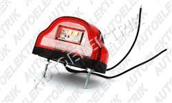 Osvětlení SPZ červené LED 12/24V, střední
