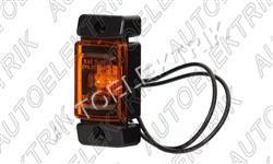 Boční pozička, obrysové světlo oranžové LED 12V/24V
