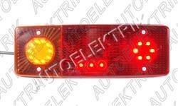 Koncové světlo, LED, obrys + SPZ, blinkr, brzda, levé