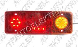 Koncové světlo, LED, obrys, blinkr, brzda, pravé