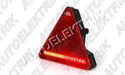 Koncové světlo - trojúhelník, levé 12/24V, LED