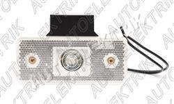 Obrysové světlo bílé, přední pozička, LED 12V/24V s držákem