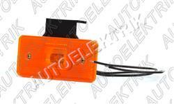 Boční pozička, obrysové světlo oranžové LED 12V/24V s držákem