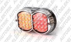 Koncové světlo pravé/levé LED, chrom