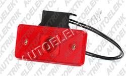 Obrysové světlo červené LED 12V/24V s držákem