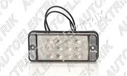 Mlhové světlo LED, zadní, 12-24V, čiré sklo