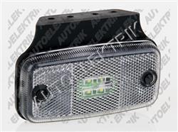 Obrysové světlo bílé, přední pozička, 4 LED 12V/24V