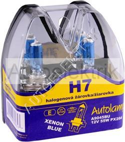 Krabička XENON BLUE, H7, 12V 55W, PX26d, 2KS