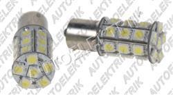 Žárovka LED, 12V/(21W), BA 15s, bílá, 28LED/3SMD
