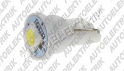 Žárovka LED, 12V, patice T10, bílá