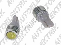 Žárovka LED, 12V, patice T10, bílá, 1LED - superradio