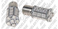 Žárovka LED, 12V/(21W), BA 15s, oranžová, 28LED/3SMD
