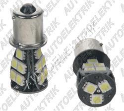LED žárovka 12V s paticí BA15s bílá, 18LED/3SMD
