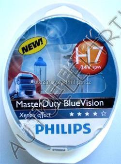 Žárovka H7 24V/70W Master Duty, BlueVision, Xenon effect